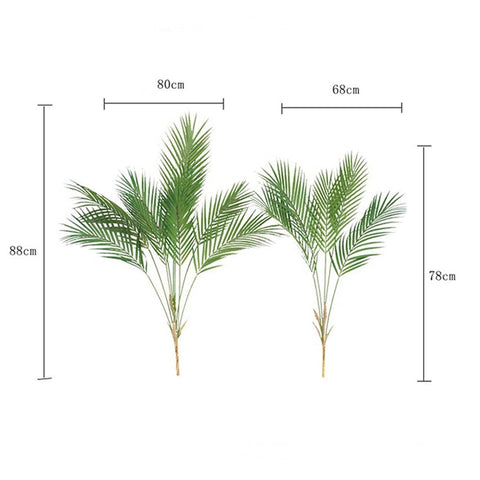 Artificial Palm Leaf Plastic Plants Garden Home Decorations