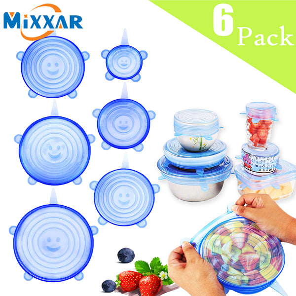 Silicone Stretch Lids Reusable Seal Lids Food