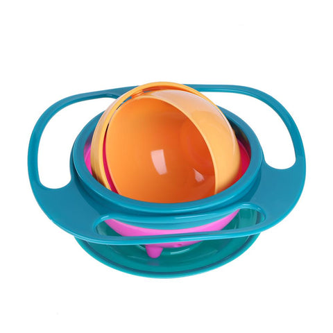 Gyro 360 Degrees Rotate Spill-Proof Bowl
