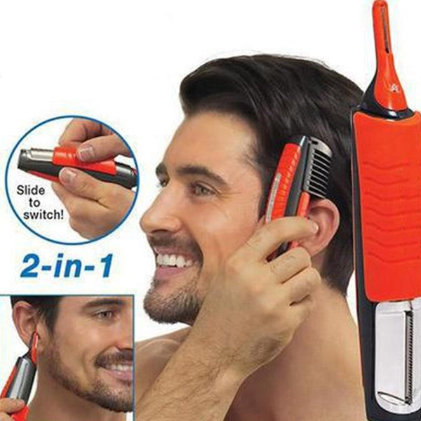 Man Beard Hair Remover 2 in 1 Shaver Grooming Hair Trimmer