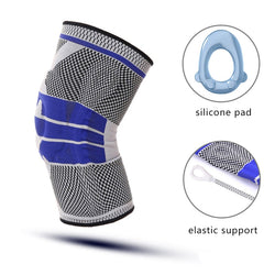 Knitting Anti Slip Silicone Elastic Knee Support