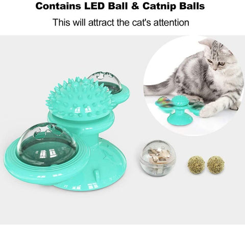 Rotatable Windmill Cat Toy