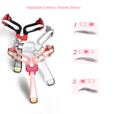 Precise Adjustable Eyebrow Shapes Stencil