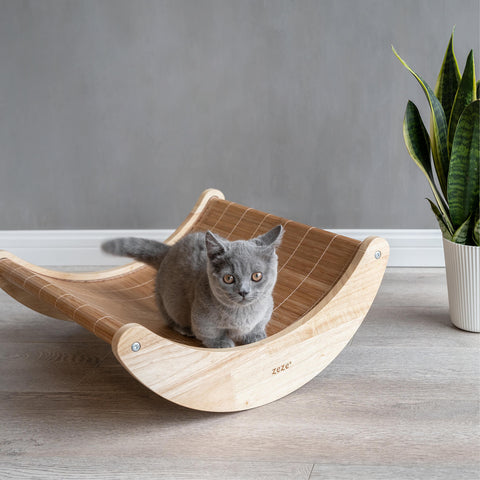 Eco- Friendly Bamboo Rocking Pet Bed
