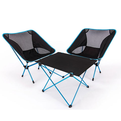 Ultra-light Aluminium Chair and Table for Outdoors