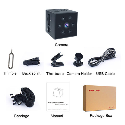 Micro Cam Body Motion Detection Camcorder