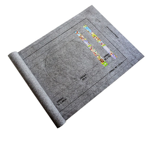 Eco-Friendly Puzzle Roll Jigsaw Storage Felt Mat