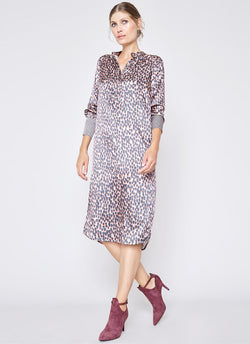 ELODIE TUNIC DRESS Abstract Animal