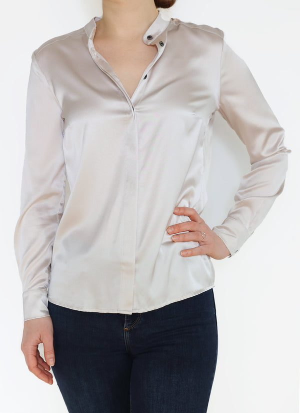 Esme Shirt, Warm Silver