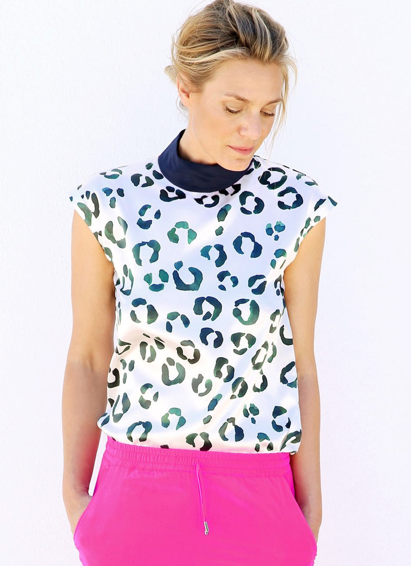 EVE TOP Aquarelle Leopard