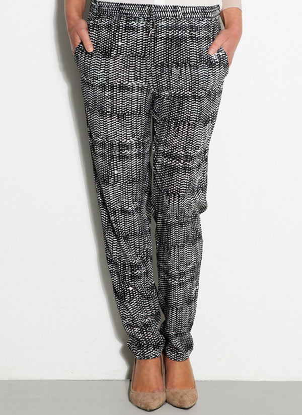 SILK PANTS Basketweave