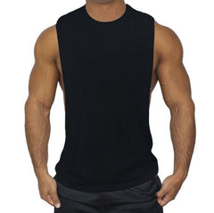 Muscleguys Mens Workout Tank Tops Fitness Bodybuilding Clothing Low Cut Armholes Vivid Vest Muscle Singlets Men Activewear Tank