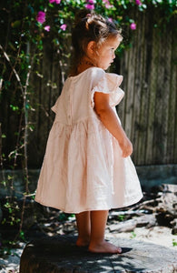 Peachy Creme Frill Smock