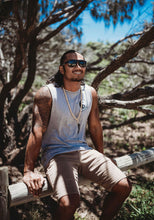 Load image into Gallery viewer, Ying Yang Muscle Tank - Stonewash Grey