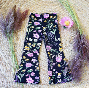 Midnight Floral Flares