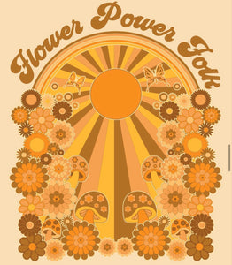 Flower Power Folk - Wall Art