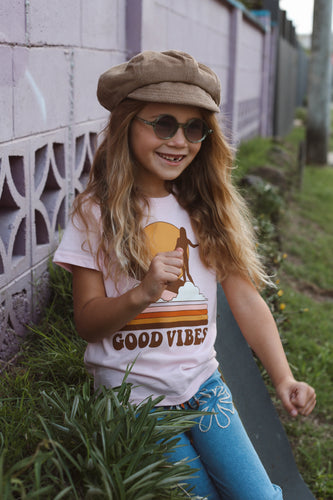 Good Vibes Tee - Pale Pink