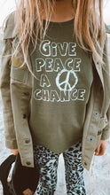 Load image into Gallery viewer, Give Peace A Chance Tank - Khaki
