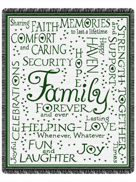 Family Forever Throw Tapestry Afghan Blanket - Noisette Place