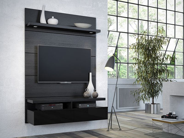 CABRINI 1.2 FLOATING WALL THEATER ENTERTAINMENT CENTER - Noisette Place