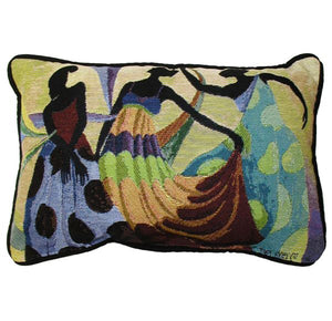 "Dancer's In Black Skin 13"" x 18"" Pillow"