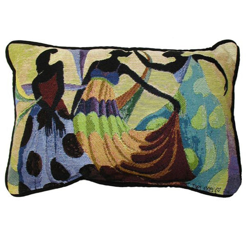 "Dancer's In Black Skin 13"" x 18"" Pillow - Noisette Place"
