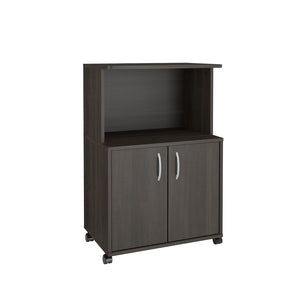 Nexera Mobile Microwave Cart, 2-Door - Noisette Place