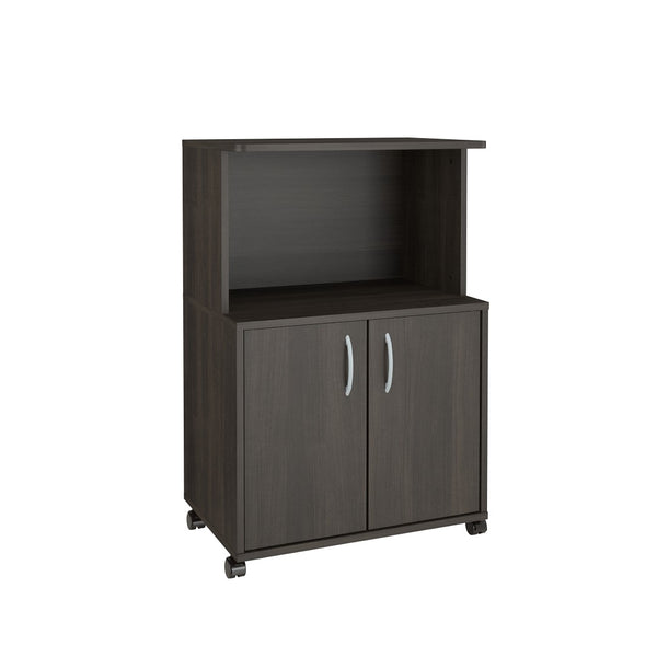 Nexera Mobile Microwave Cart, 2-Door