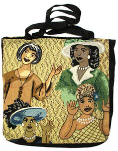 "Too Blessed To Be Stressed (Tote Bag) 17"" X 17"", Artist Ivey Hayes - Noisette Place"
