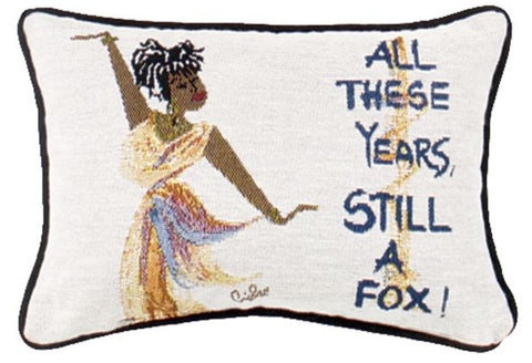 All These Years, Still A Fox 8 x 12 Message pillow