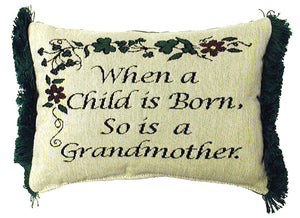 "Irish When A Child Is Born 8"" x 12"" Message Pillow - Noisette Place"