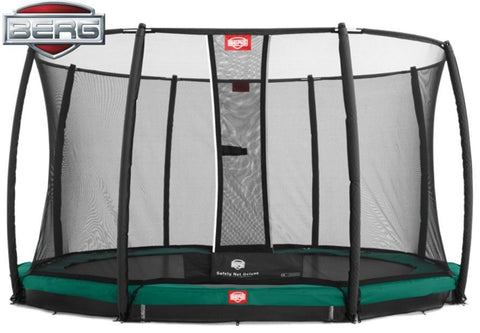 Berg Champion 11ft Trampoline with Safety Net Deluxe TwinSpring Gold-system
