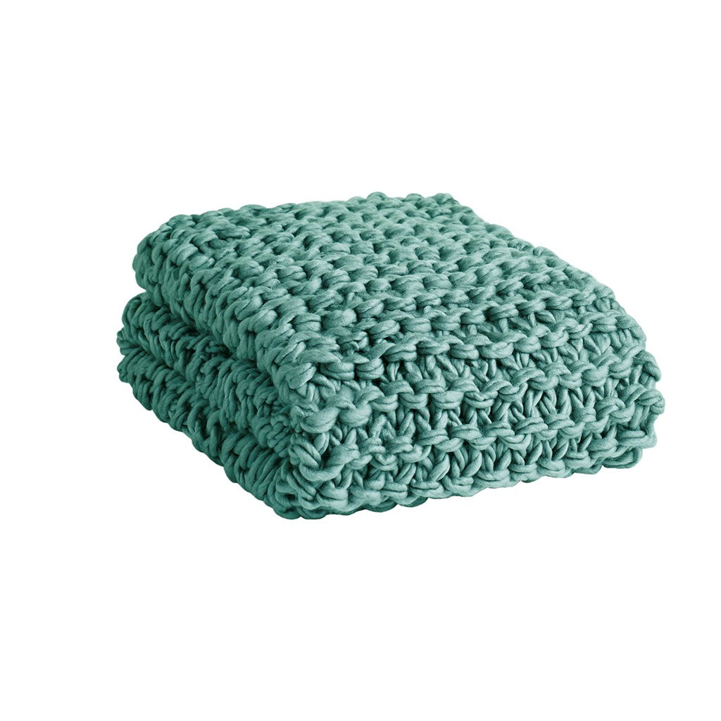 Chunky Cable Knit Throw Blanket Ultra Plush and Soft 100% Acrylic Accent Throw - 50 x 60 - Noisette Place