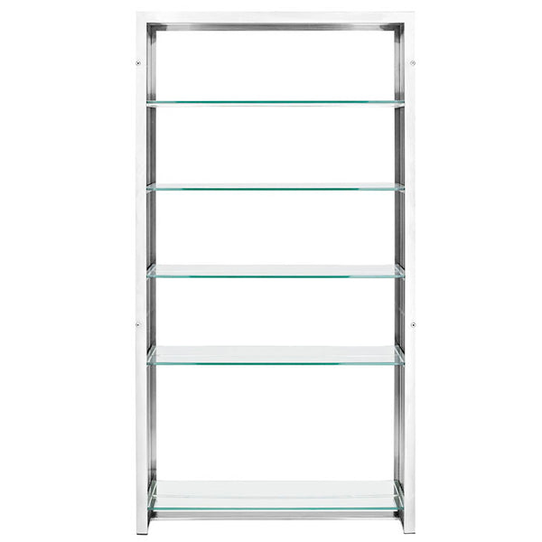 GRIDIRON STAINLESS STEEL BOOKSHELF IN SILVER - Noisette Place