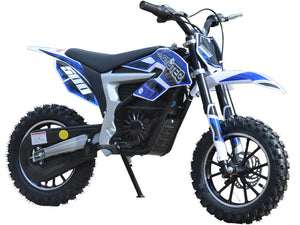 MotoTec 36v Electric Dirt Bike 500w Lithium Blue