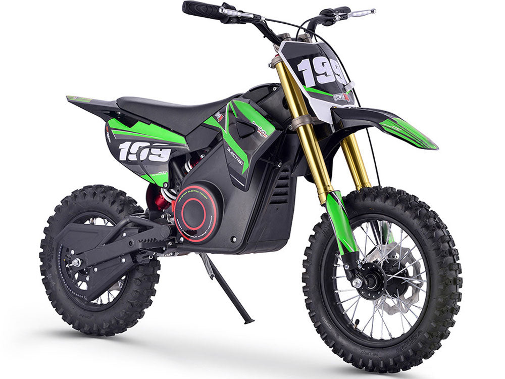 MotoTec 36v Pro Electric Dirt Bike 1000w Lithium Green - Noisette Place