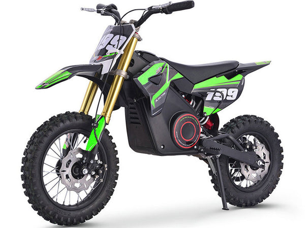 MotoTec 36v Pro Electric Dirt Bike 1000w Lithium Green