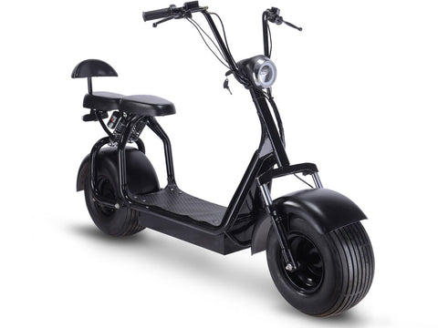 MotoTec Knockout 48v 1000w Electric Scooter Black