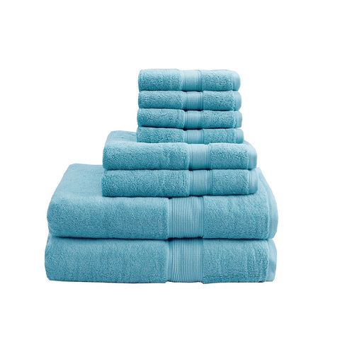 MADISON PARK SIGNATURE 800GSM 100% Cotton 8 Piece Towel Set 30 x 54 - Noisette Place