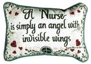 "Nurse Message Pillow 9"" x 12"", Artist Lynn N Parker - Noisette Place"