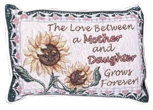 "Mother Daughter Love (Message Pillow) 9"" X 12"" - Noisette Place"