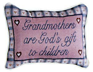 "Grandmother's Gift (message pillow) 9"" x 12"" - Noisette Place"