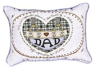 "P90-DAD Dad (Message Pillow) 9"" X 12"", Artist Lynn N. Parker - Noisette Place"