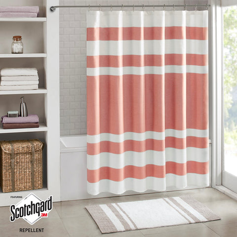 Spa Waffle Shower Curtain with 3M Treatment - Noisette Place