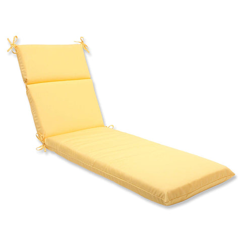 Pillow Perfect Indoor/Outdoor Chaise Lounge Cushion with Sunbrella Canvas - Noisette Place