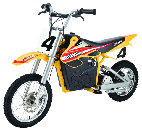 MX650 Dirt Rocket Yellow Dirt Bike - Noisette Place