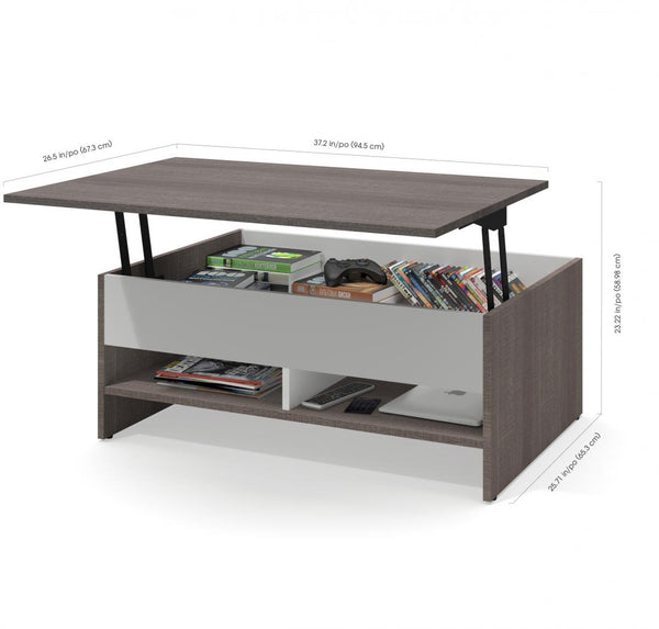 37-INCH LIFT-TOP STORAGE COFFEE TABLE - Noisette Place
