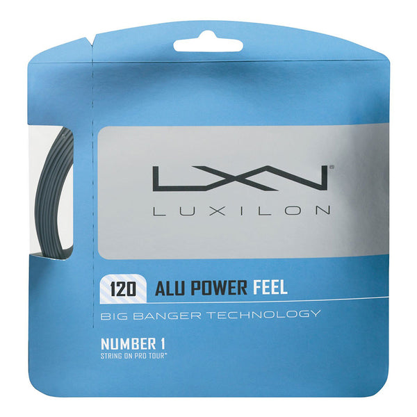 LUXILON ALU POWER FEEL TENNIS STRING SET - SILVER, 17 GA (1.20MM)