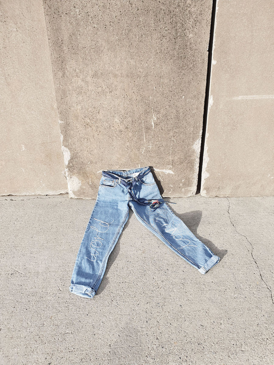 Recycled Denim Jeans made by Ethical clothing brand Fanfare Label