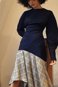 https://fabricforfreedom.co.uk/products/check-midi-dress-with-satin-skirt-navy